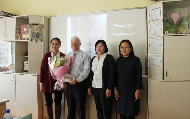 Guest Prof. Dr. John Duffy gave a lecture to high school students