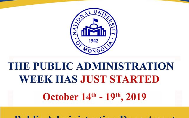 The Public Administration week has just started
