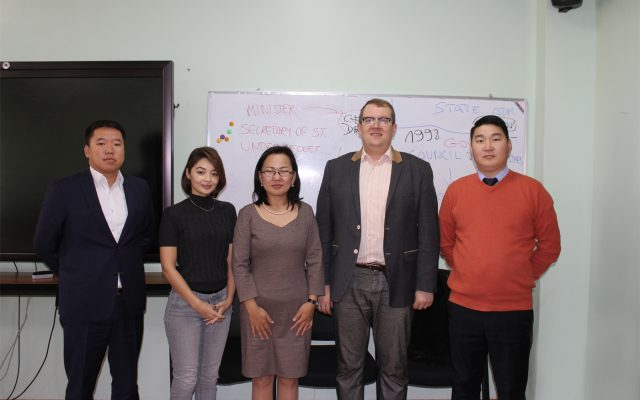 Prof. Dr. Wojciech Federczyk, director and chief executive of the Lech Kaczyński National School of Public Administration, Warsaw, Poland, gave a lecture to the Ph.D Candidates of the public administration program, SIRPA, NUM