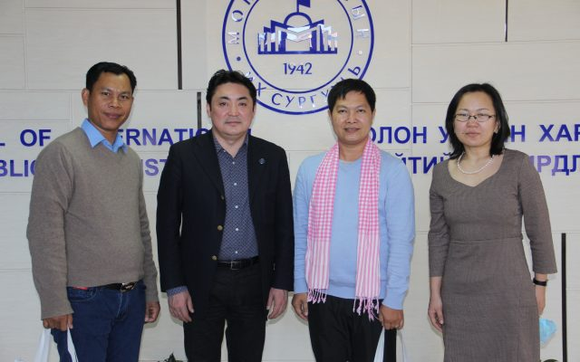 The Cambodian Mean Chey University professors visited SIRPA, NUM