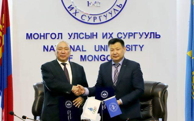 Олон улсын олимпын болон Монголын тамирчдын өдөр Монгол Улсын Их Сургууль нь Монголын Үндэсний Олимпын Академитай хамтын ажиллагааны гэрээ байгуулав
