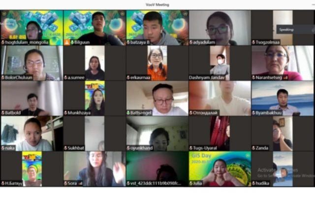 """МУИС-ийн Газарзүйн тэнхимийн Байгаль орчныг зайнаас тандан судлал хөтөлбөр сурталчлах, олон улсын газарзүйн мэдээллийн системийн өдөр """"GISday-2020"""" өдөрлөг цахимаар зохион байгуулагдлаа"""