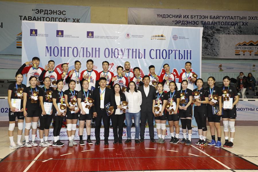 МУИС-ийн сагсан бөмбөгийн эрэгтэй, эмэгтэй шигшээ баг Монголын оюутны спортын V их наадамд Хос алтан медаль хүртлээ