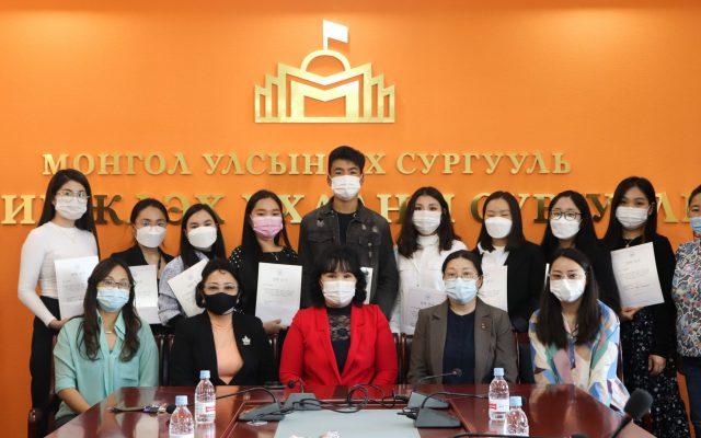 БНСУ-ын иргэн Кан СонВөний нэрэмжит тэтгэлгийн батламж гардууллаа