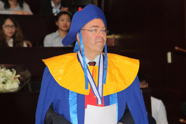 Greeting for Public Administration Department's 10th anniversary from Prof. Dr. Dr. h.c. Stefan Hanselmann
